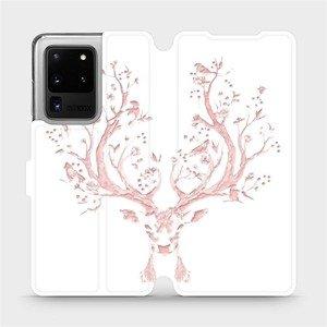 Flipové pouzdro Mobiwear na mobil Samsung Galaxy S20 Ultra - M007S Růžový jelínek