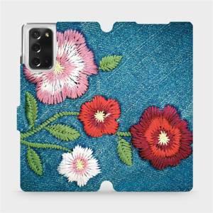 Flipové pouzdro Mobiwear na mobil Samsung Galaxy Note 20 - MD05P Džínové květy