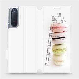 Flipové pouzdro Mobiwear na mobil Sony Xperia 5 II - M090P Makronky - have a nice day