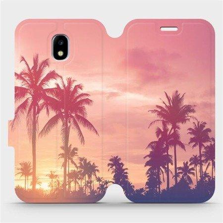Flipové pouzdro Mobiwear na mobil Samsung Galaxy J3 2017 - M134P Palmy a růžová obloha