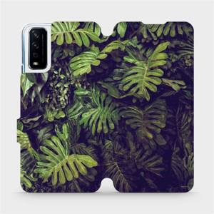 Flipové pouzdro Mobiwear na mobil Vivo Y11S - V136P Zelená stěna z listů