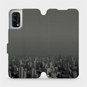 Flipové pouzdro Mobiwear na mobil Realme 7 5G - V063P Město v šedém hávu