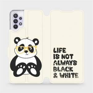Flipové pouzdro Mobiwear na mobil Samsung Galaxy A32 5G - M041S Panda - life is not always black and white