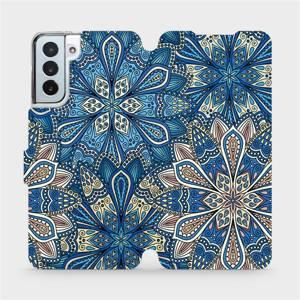 Flipové pouzdro Mobiwear na mobil Samsung Galaxy S21 Plus 5G - V108P Modré mandala květy
