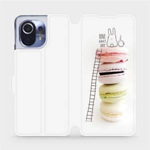Flipové pouzdro Mobiwear na mobil Xiaomi Mi 11 - M090P Makronky - have a nice day