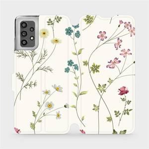 Flip pouzdro Mobiwear na mobil Samsung Galaxy A32 LTE - MD03S Tenké rostlinky s květy
