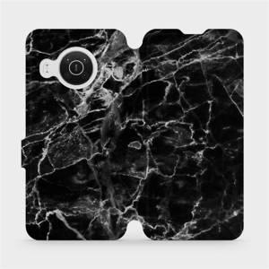 Flip pouzdro Mobiwear na mobil Nokia X20 - V056P Černý mramor