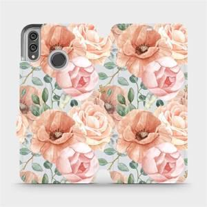 Flip pouzdro Mobiwear na mobil Honor 8X - MP02S Pastelové květy