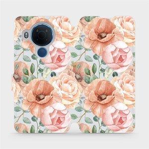 Flip pouzdro Mobiwear na mobil Nokia 5.4 - MP02S Pastelové květy