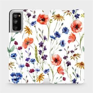 Flip pouzdro Mobiwear na mobil Samsung Galaxy S20 FE - MP04S Luční kvítí