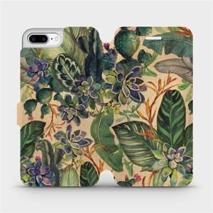 Flip pouzdro Mobiwear na mobil Apple iPhone 7 Plus - VP05S Sukulenty