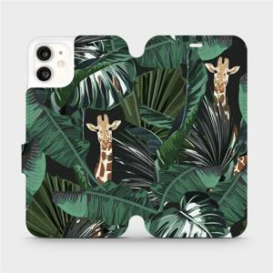 Flip pouzdro Mobiwear na mobil Apple iPhone 11 - VP06P Žirafky