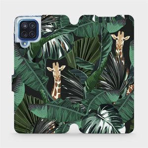 Flip pouzdro Mobiwear na mobil Samsung Galaxy M12 - VP06P Žirafky