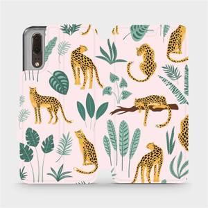 Flip pouzdro Mobiwear na mobil Huawei P20 - MP07S Leopardi