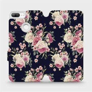 Flipové pouzdro Mobiwear na mobil Honor 9 Lite - V068P Růžičky