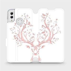 Flipové pouzdro Mobiwear na mobil Honor 10 Lite - M007S Růžový jelínek