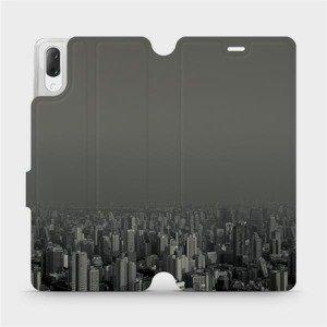 Flipové pouzdro Mobiwear na mobil Sony Xperia L3 - V063P Město v šedém hávu