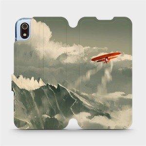 Flipové pouzdro Mobiwear na mobil Xiaomi Redmi 7A - MA03P Oranžové letadlo v horách