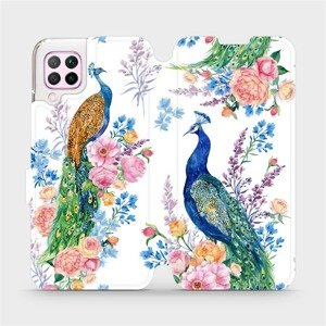 Parádní flip pouzdro Mobiwear na mobil Huawei P40 Lite - MX08S Pávi - výprodej