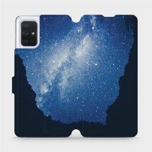 Flipové pouzdro Mobiwear na mobil Samsung Galaxy A71 - M146P Galaxie
