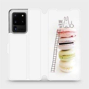 Flipové pouzdro Mobiwear na mobil Samsung Galaxy S20 Ultra - M090P Makronky - have a nice day