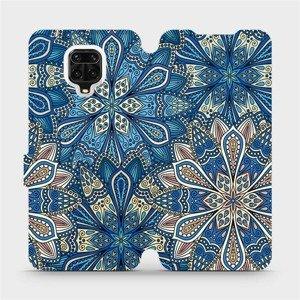 Flipové pouzdro Mobiwear na mobil Xiaomi Redmi Note 9 Pro - V108P Modré mandala květy