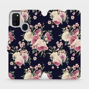Flipové pouzdro Mobiwear na mobil Samsung Galaxy M21 - V068P Růžičky