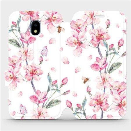 Flipové pouzdro Mobiwear na mobil Samsung Galaxy J3 2017 - M124S Růžové květy