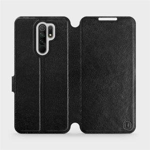 Flipové pouzdro Mobiwear na mobil Xiaomi Redmi 9 v provedení C_BLS Black&Gray s šedým vnitřkem