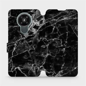 Flipové pouzdro Mobiwear na mobil Nokia 3.4 - V056P Černý mramor