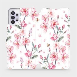 Flipové pouzdro Mobiwear na mobil Samsung Galaxy A32 5G - M124S Růžové květy