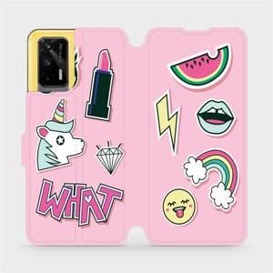 Flipové pouzdro Mobiwear na mobil Realme GT 5G - M129S Růžové WHAT