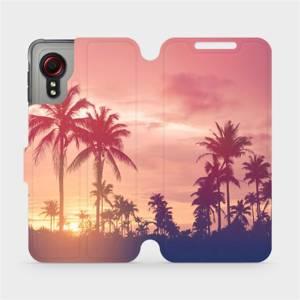 Flipové pouzdro Mobiwear na mobil Samsung Galaxy Xcover 5 - M134P Palmy a růžová obloha