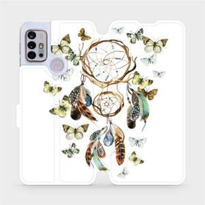 Flipové pouzdro Mobiwear na mobil Motorola Moto G10 - M001P Lapač a motýlci