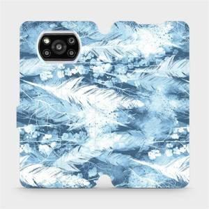 Flipové pouzdro Mobiwear na mobil Xiaomi Poco X3 Pro - M058S Světle modrá horizontální pírka