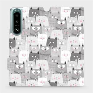 Flip pouzdro Mobiwear na mobil Sony Xperia 5 III - M099P Kočičky