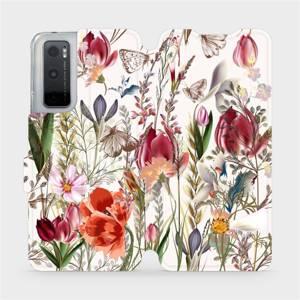 Flip pouzdro Mobiwear na mobil Vivo Y70 - MP01S Rozkvetlá louka