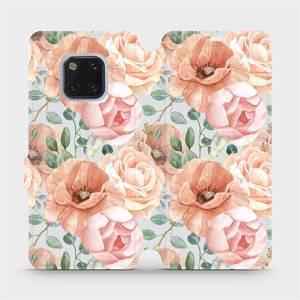 Flip pouzdro Mobiwear na mobil Huawei Mate 20 Pro - MP02S Pastelové květy