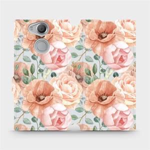 Flip pouzdro Mobiwear na mobil Sony Xperia XA2 - MP02S Pastelové květy