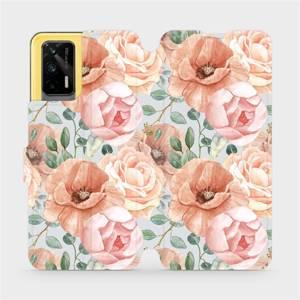 Flip pouzdro Mobiwear na mobil Realme GT 5G - MP02S Pastelové květy