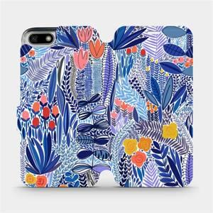 Flip pouzdro Mobiwear na mobil Honor 7S - MP03P Modrá květena