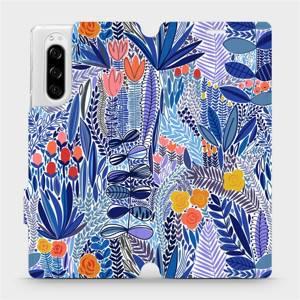 Flip pouzdro Mobiwear na mobil Sony Xperia 5 - MP03P Modrá květena