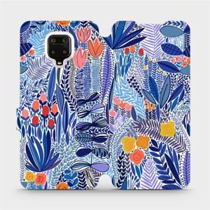 Flip pouzdro Mobiwear na mobil Xiaomi Redmi Note 9 Pro - MP03P Modrá květena