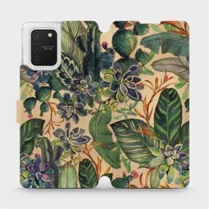 Flip pouzdro Mobiwear na mobil Samsung Galaxy S10 Lite - VP05S Sukulenty