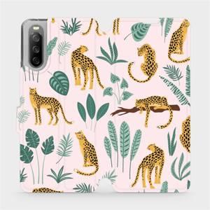 Flip pouzdro Mobiwear na mobil Sony Xperia 10 III - MP07S Leopardi