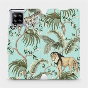 Flip pouzdro Mobiwear na mobil Samsung Galaxy A42 5G - MP08S Dvě kočičky