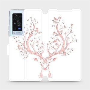 Flip pouzdro Mobiwear na mobil Vivo X60 Pro 5G - M007S Růžový jelínek