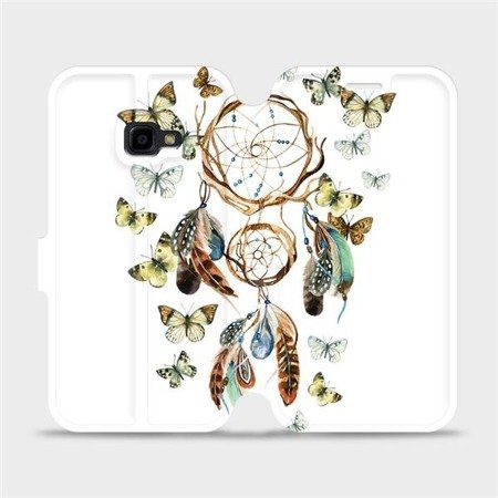 Flipové pouzdro Mobiwear na mobil Samsung Xcover 4 - M001P Lapač a motýlci