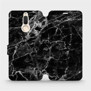 Flipové pouzdro Mobiwear na mobil Huawei Mate 10 Lite - V056P Černý mramor