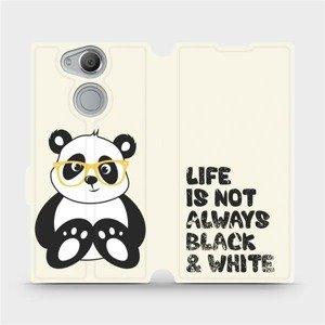 Flipové pouzdro Mobiwear na mobil Sony Xperia XA2 - M041S Panda - life is not always black and white